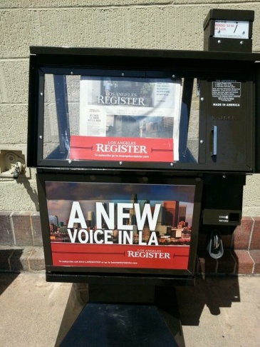The Los Angeles Register debuted on April 16, 2014.