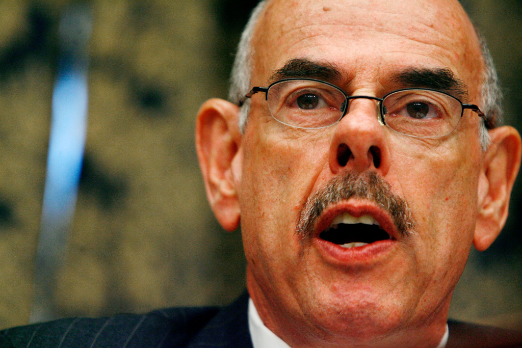 House Oversight and Government Reform Committee Chairman Henry Waxman (D-CA) makes opening remarks about a resolution to hold U.S. Attorney General Michael Mukasey in contempt on Capitol Hill July 16, 2008 in Washington, DC.