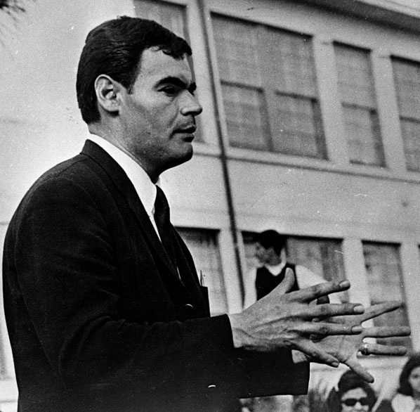 Lincoln High School teacher Sal Castro, who was central to organizing the East L.A. walkouts, pictured on June 10, 1968.