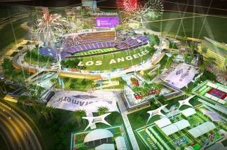 Rendering of proposed Los Angeles football stadium