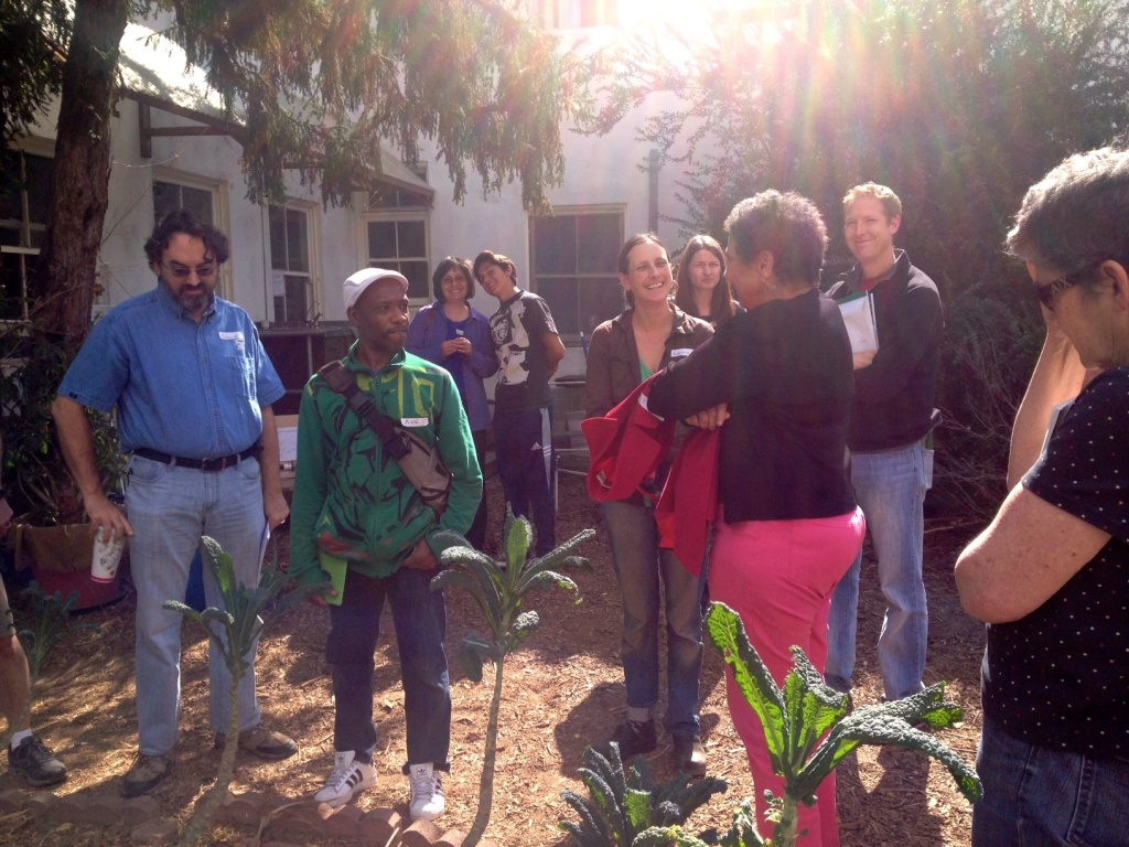 Southern Californians crowd in for a lesson on laundry-to-landscape graywater systems at the LA Eco-Village.