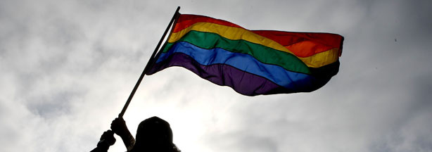 File photo: Bob Sodervick waves a gay pride flag outside of San Francisco City Hall June 17, 2008 in San Francisco, California.