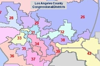 Los Angeles County Congressional districts.