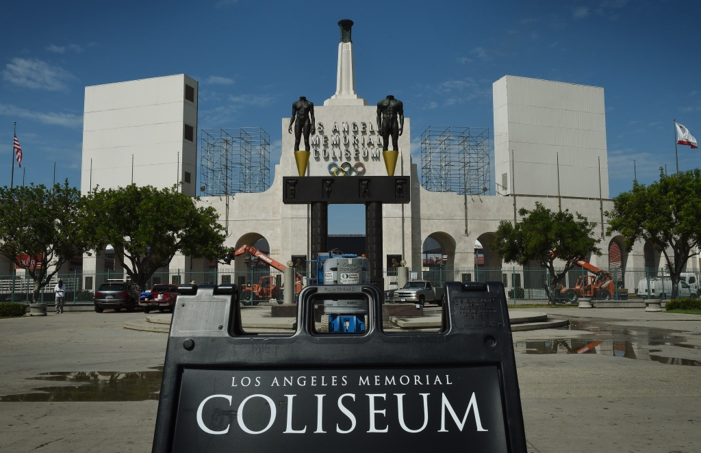 File: The Los Angeles Memorial Coliseum, as seen on Aug. 26, 2015.