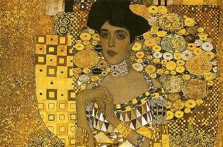 A detail of Gustav Klimt's