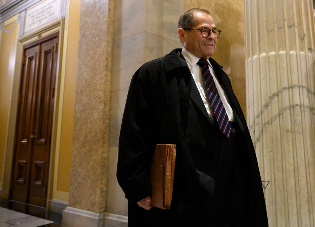 US Representative and Chairman of the Judiciary committee Jerrold Nadler (D-NY) arrives on Capitol Hill in Washington, DC on October 22, 2019.