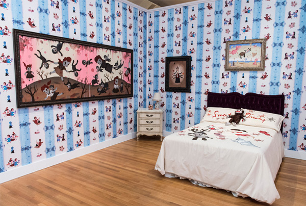"File: Gary Baseman's ""bedroom,"" photo by Timothy Norris."
