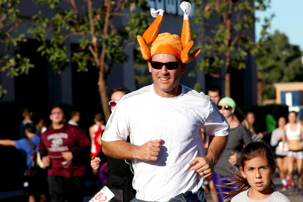 About 4,500 hundred people participated in the 35th Annual Harry Sutter Memorial Thanksgiving Day Turkey Trot Fun Run in Torrance.