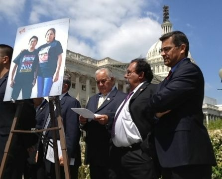 Congressman Xavier Becerra (R) discusses Dream Act policy with the Hispanic Council last year. Now Republicans have gotten in on the action, announcing their own version of the controversial bill on Thursday.
