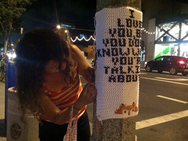 Yarn Bombing Moonrise Kingdom