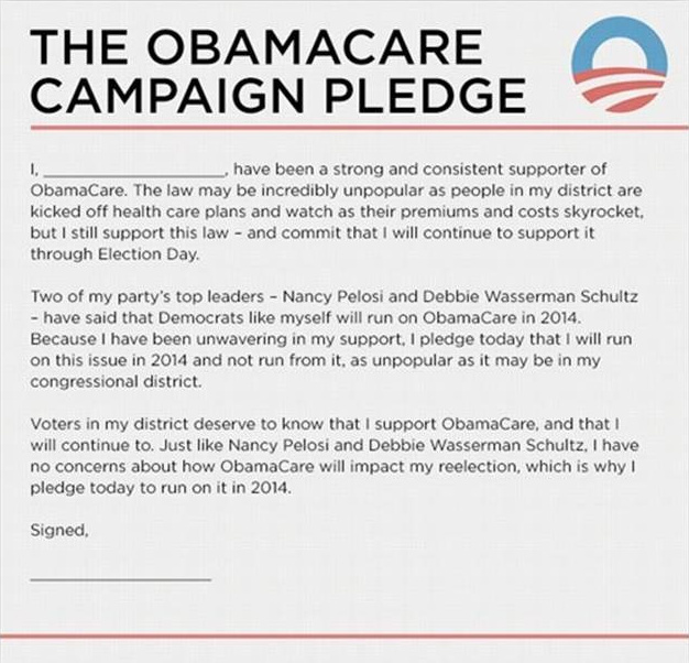 The Republican National Campaign Committee is making the Affordable Care Act a key issue in the midterm election, challenging Democratic candidates to stand by their support.
