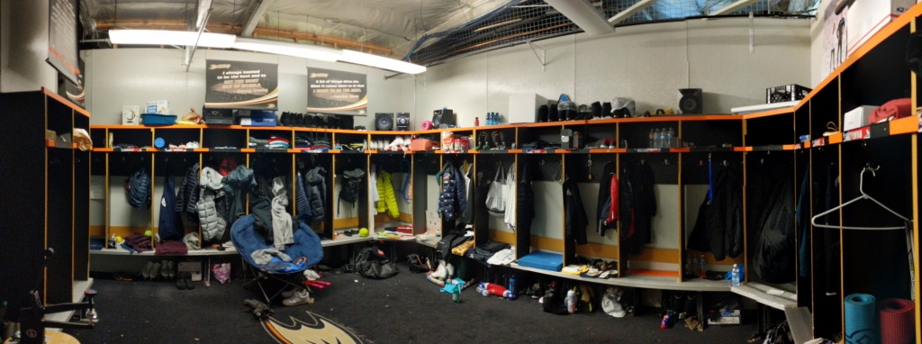 The Rinks in Lakewood provides a private, locked locker room for its figure skating athletes. These athletes might have skates that run around $3,000 per pair, and this space helps to keep them secure.