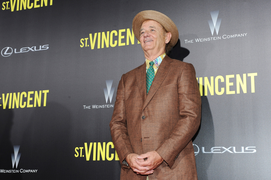 Actor Bill Murray attends the premiere of ST. VINCENT, hosted by the Weinstein Company with Lexus on October 6, 2014 in New York City.