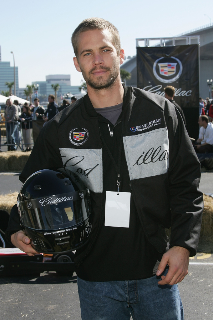 Actor Paul Walker at the 3rd Annual Cadillac Super Bowl Grand Prix at the CSX Parking Lot on February 5, 2005 in Jacksonville, Florida.