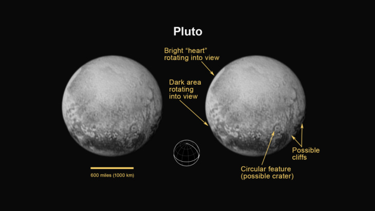 Following Tuesday's flyby of Pluto, NASA released close-up images of the former ninth planet.