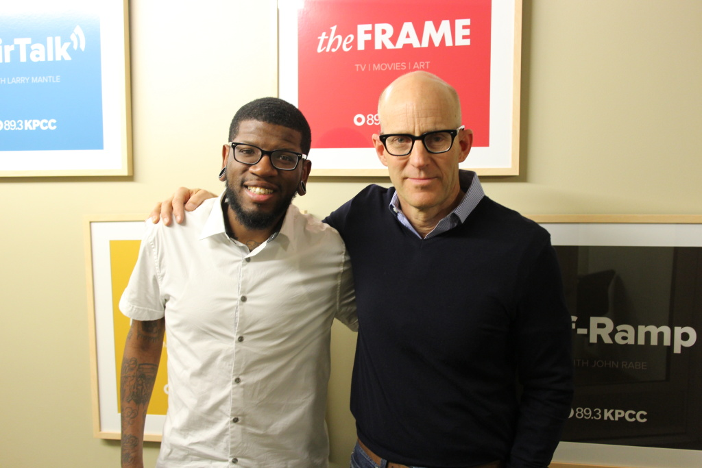 Comedian Quincy Jones, left, with The Frame host John Horn.
