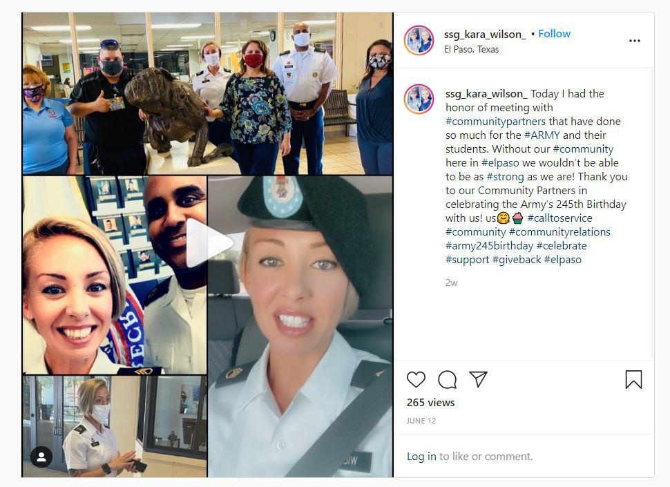 Staff Sgt. Kara Wilson, an Army recruiter in West Texas, maintains an Instagram accout to reach potential recruits.