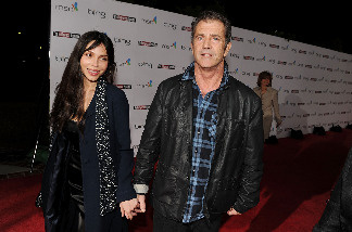 Actor Mel Gibson (R) and Oksana Grigorieva attend The Hollywood Reporter's Nominees' Night Prelude to Oscar presented by Bing and MSN at the Mayor's Residence on Thursday, March 4, 2010 in Los Angeles, California.