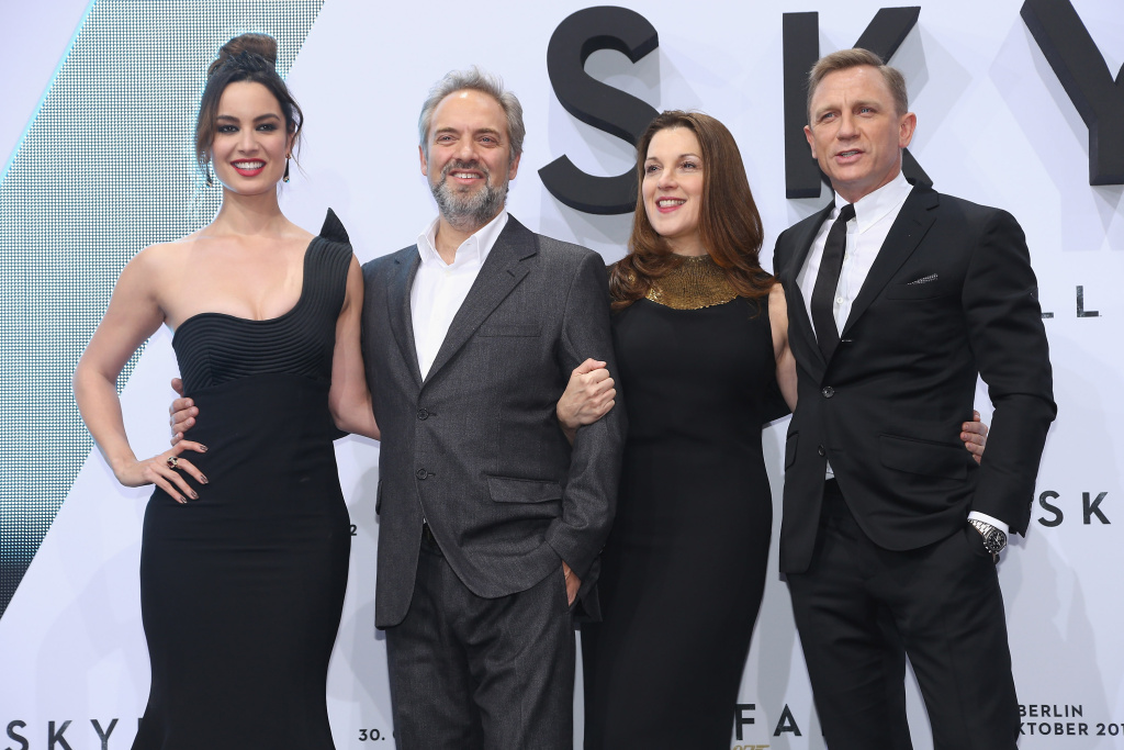 Berenice Marlohe, Sam Mendes, Barbara Broccoli and Daniel Craig attend the Germany premiere of