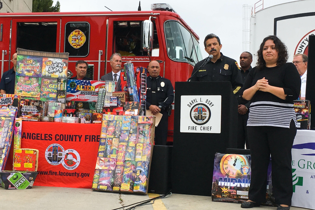 L.A. City Fire Chief Ralph Terrazas talks about the dangers of at-home fireworks.