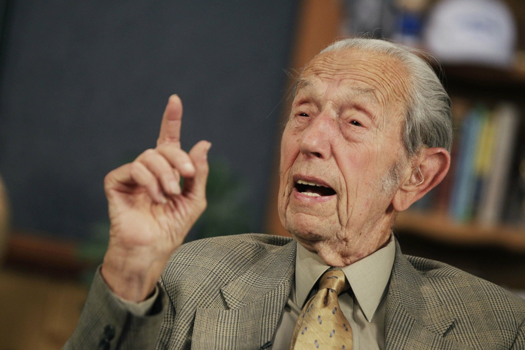 "In this May 23, 2011 file photo, Harold Camping speaks during a taping of his show Open Forum in Oakland, Calif. Camping, the Northern California preacher whose radio ministry spent millions of dollars last year predicting a fiery apocalypse that failed to materialize has apologized to his followers in an open letter, saying ""we humbly acknowledge we were wrong"" and ""we have no new evidence pointing to another date for the end of the world."""