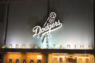 Dodger Stadium on the evening of April 29, 2011.