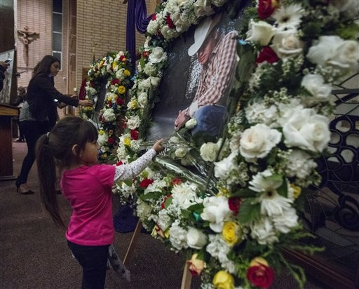 Mexican singer Ariel Camacho remembered at a memorial service in Los Angeles