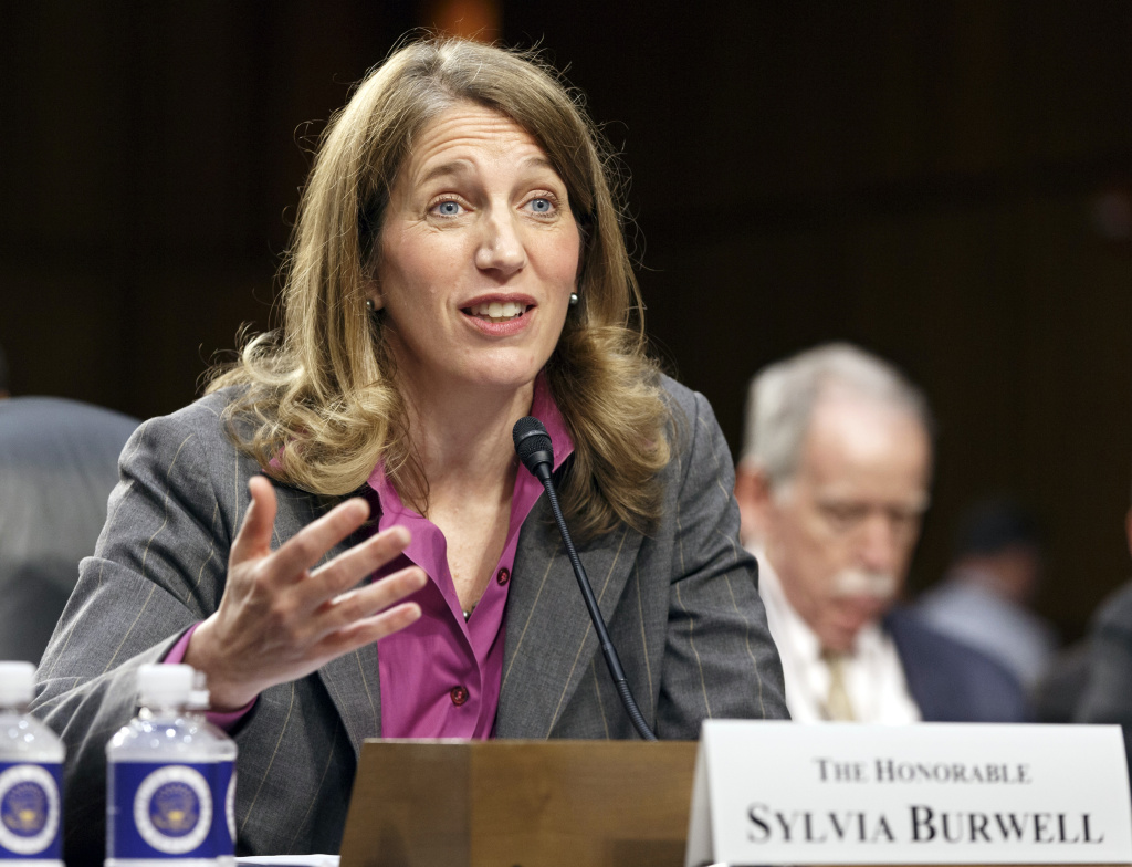 This May 14, 2014 file photo shows Sylvia Mathews Burwell, President Barack Obama's nominee to become secretary of Health and Human Services testifying on Capitol Hill in Washington. More than 2 million people who got health insurance under President Barack Obama's law have data discrepancies that could jeopardize coverage for some, a government document shows. On Wednesday, Burwell easily passed a key test vote in the Senate.