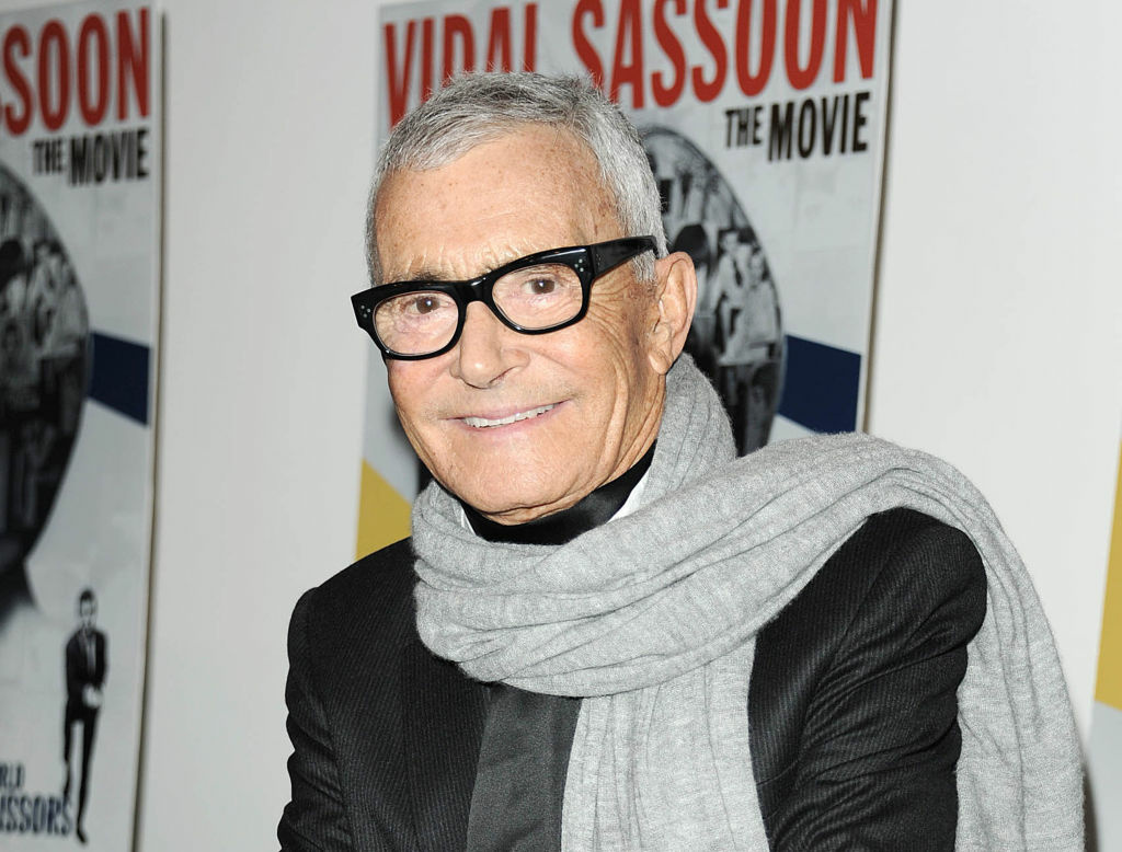 "Vidal Sassoon at a special screening of ""Vidal Sassoon: The Movie,"" in New York in 2011. Sassoon, whose 1960s wash-and-wear cuts freed women from endless teasing and hairspray, died Wednesday, May 9, 2012, at his home. He was 84."