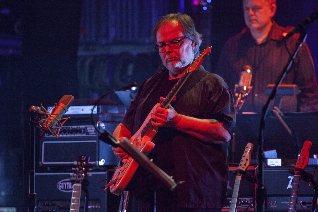 Walter Becker performs with Steely Dan at the Beacon Theatre in New York City on October 10, 2015.