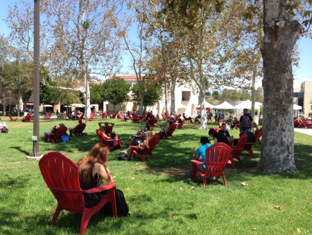 The main quad at Saddleback College in south Orange County.