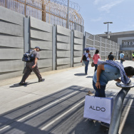 Pedestrians going to Tijuana from San Diego.