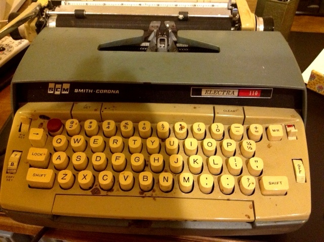 Truman Capote's nicotine stained Smith Corona, with which he typed his final three novels. It's now in Steve Soboroff's collection of historic typewriters, which he uses to raise money for scholarships.