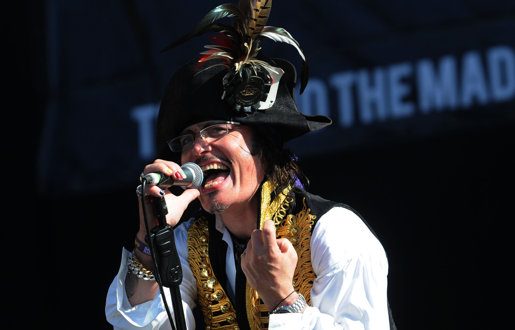Stuart Goddard, aka Adam Ant, performs live on stage during the third day of the 'Hard Rock Calling' music festival at Hyde Park on June 26, 2011 in central London, England.