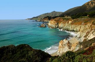 The Monterey Bay coastline.