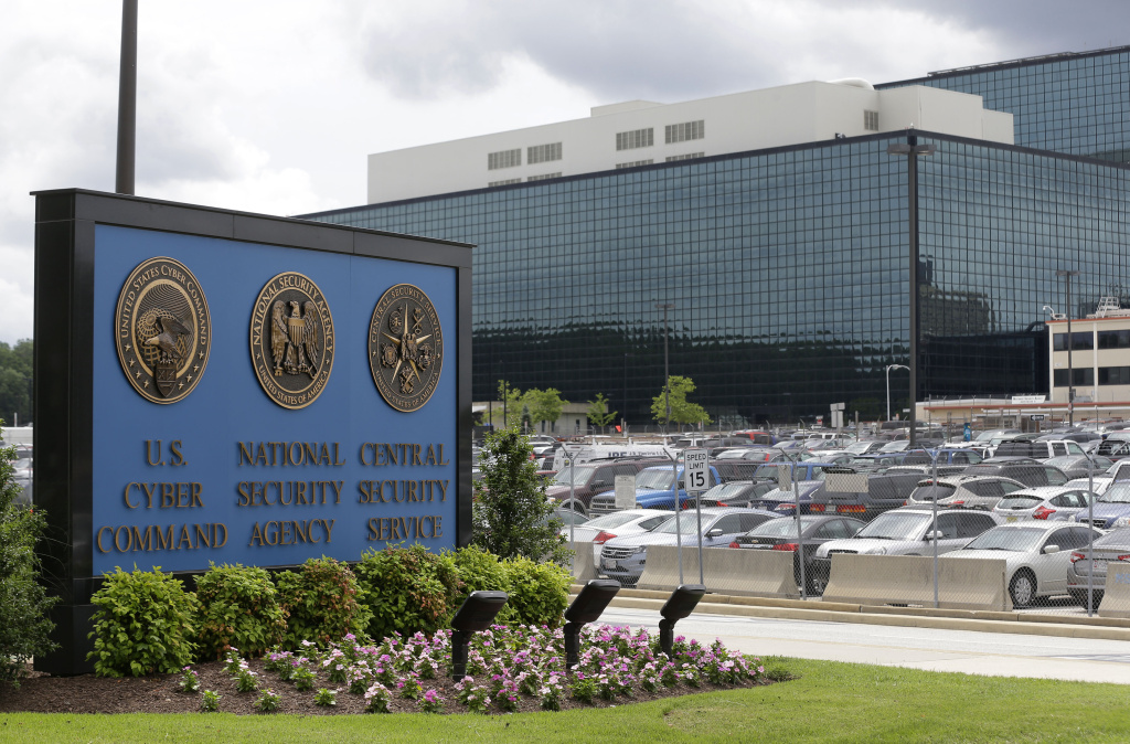 FILE - This Thursday, June 6, 2013 file photo shows the National Security Administration (NSA) campus in Fort Meade, Md.  The American Civil Liberties Union, Wikimedia and other groups are suing the National Security Agency over its surveillance practices. The lawsuit says the agency violates the free speech and privacy rights of Americans by tapping into the U.S. internet backbone to monitor online communications. (AP Photo/Patrick Semansky, File)