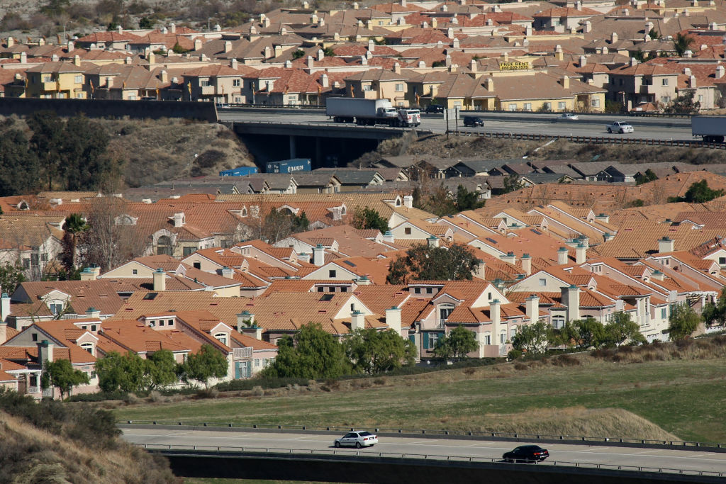 Tract  homes in Santa Clarita, California. Pending homes sales in the U.S. are at levels not seen since 2010.