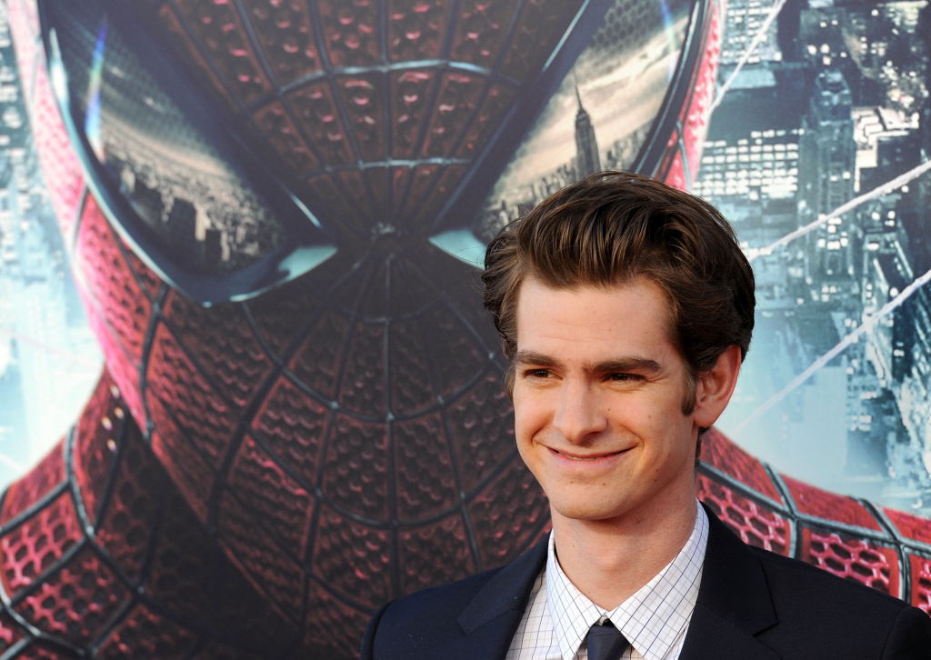 Actor Andrew Garfield arrives for the premiere of Sony Pictures 'The Amazing Spider-Man' in Los Angeles on June 28, 2012.