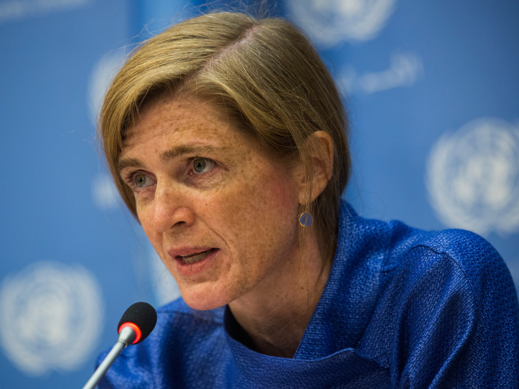 Samantha Power, who served as the U.S. ambassador to the United Nations during the Obama administration, has been nominated by President-elect Joe Biden to run USAID. Power is seen here in 2014.