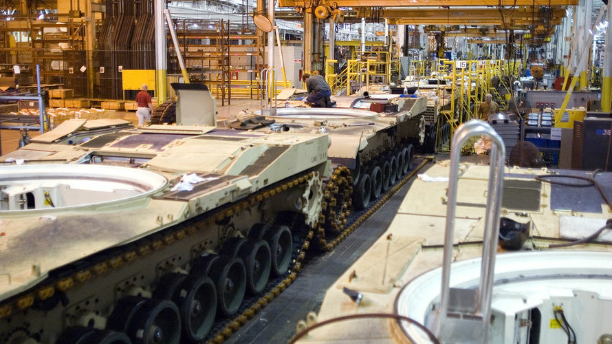 U.S. orders for long-lasting manufactured goods rebounded in April, buoyed by more demand for military and civilian aircraft and an increase in business investment.The Commerce Department Friday said durable goods orders rose 3.3 percent last month after a 5.9 decline in March. (Photo: M1 Abrams tanks sit on the assembly line at a plant in Lima, Ohio).