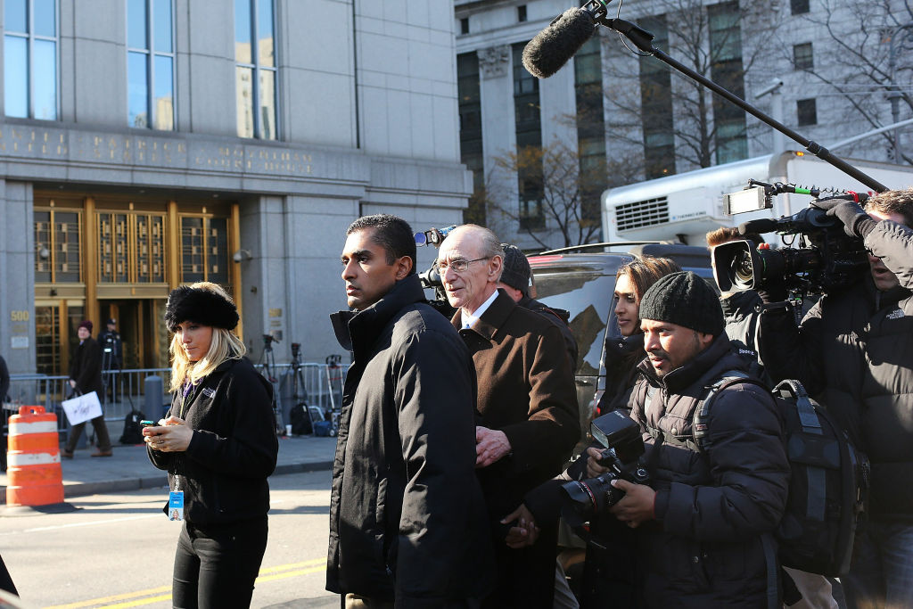 Former hedge fund portfolio manager Mathew Martoma exits a New York federal court after being charged in one of the biggest insider trading cases in history. He worked for CR Intrinsic Investors LLC, a firm that was associated with Steven Cohen's SAC Capital Advisors.