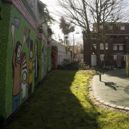 "A playground is seen in London, outside an address where Kuwaiti-born London computer programmer Mohammed Emwazi is believed to have lived. Emwazi has been identified as masked ISIS militant ""Jihadi John."""
