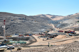 Overview of the San Jose Mine zone near Copiapo, Chile, where 33 trapped miners were brought to safety on Oct. 13.