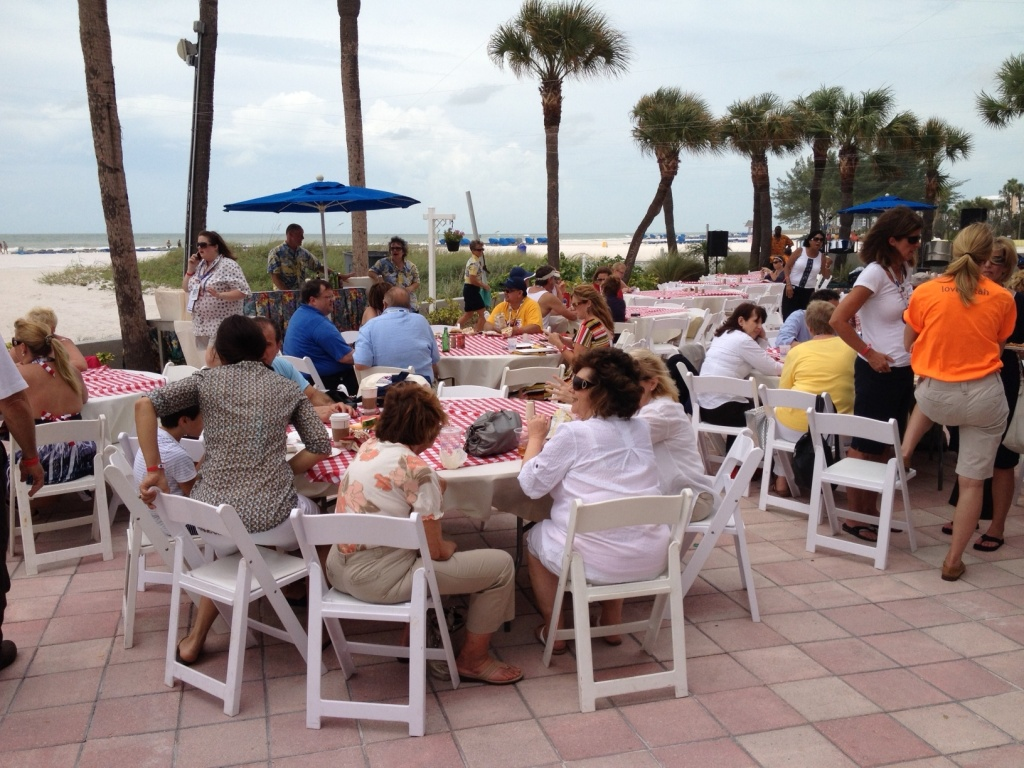 CA Delegates' beach party