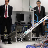 Obama Visits Virginia High School, Signs America Invents Law