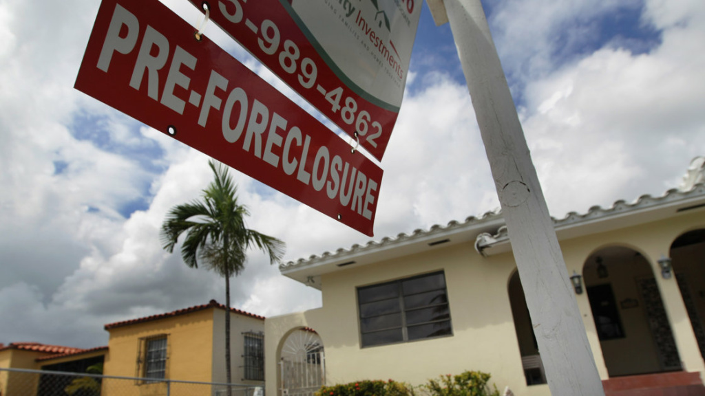 Foreclosures persist in parts of California, such as San Bernardino County, and sometimes originate from loans made right before the housing bubble burst.