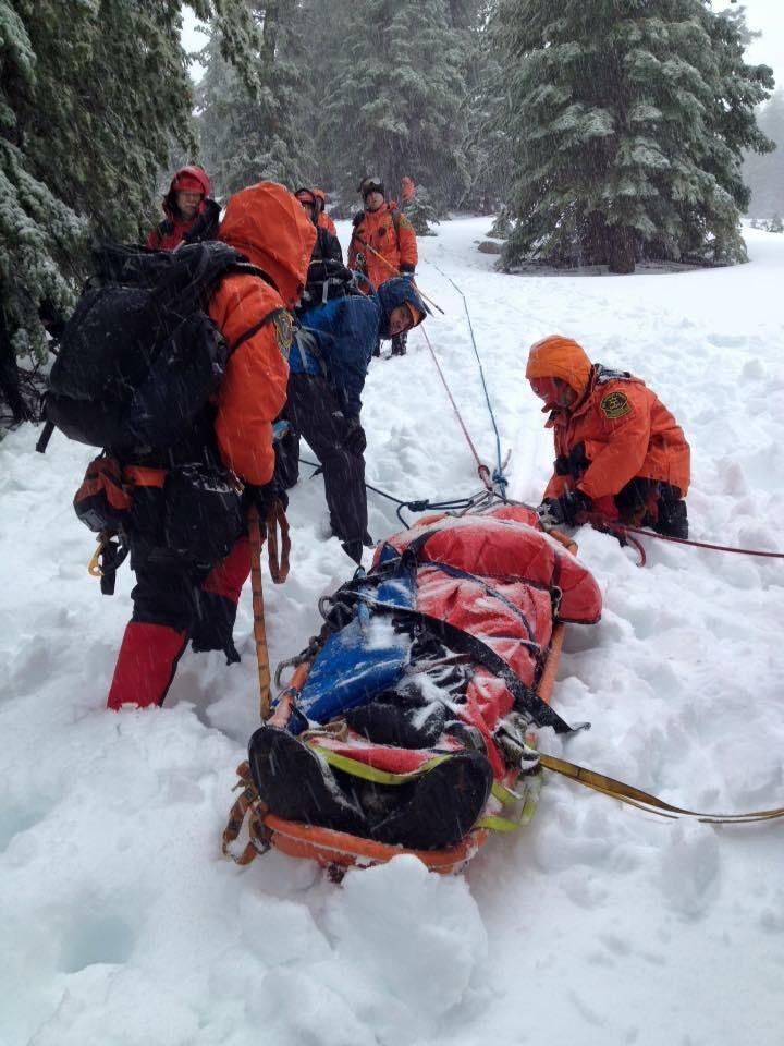 LA County Sheriff's Department winter rescue