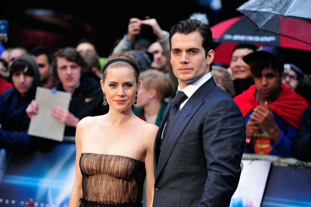 Amy Adams and Henry Cavill attend the UK Premiere of 'Man of Steel' at Odeon Leicester Square on June 12, 2013 in London, England.