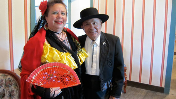 Kathy Rabago and Leo Fernandez in period costume.
