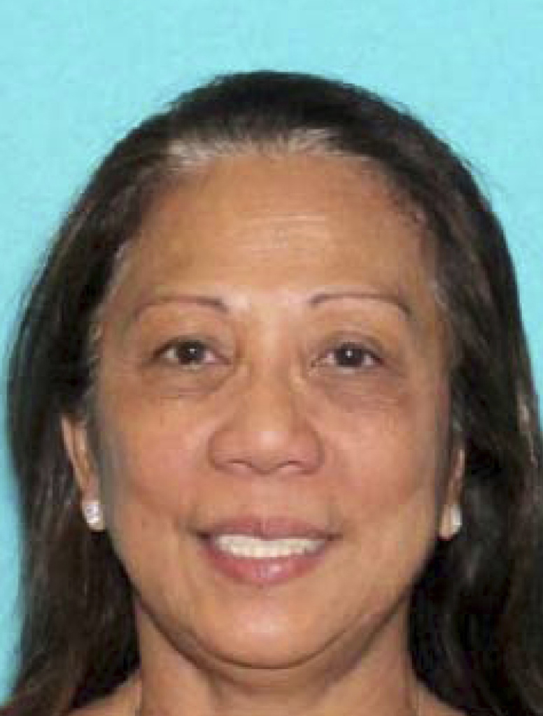 This undated photo provided by the Las Vegas Metropolitan Police Department shows Marilou Danley, 62, girlfriend of the active shooter in the Sunday, Oct. 1, 2017, Las Vegas shooting.